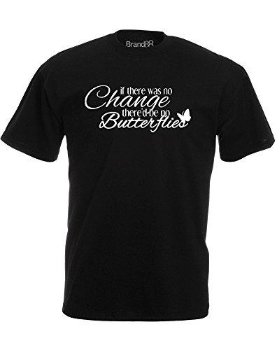 Brand88 - Brand88 - Change is Good, Mann Gedruckt T-Shirt Schwarz/Weiß