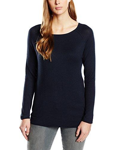 ONLY Damen Langarmshirt Onlmila Lacy L/s Long Pullover KNT, Einfarbig, Gr. 40 (Herstellergröße: L), Blau (Night Sky)
