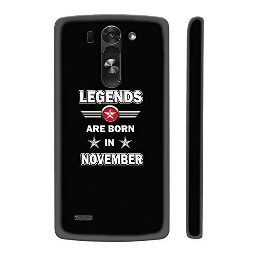 YuBingo Hard Plastic Mobile Case for LG G3 Beat   Legends Born in November   Designer Printed Back Cover   Waterproof   Slim   Light
