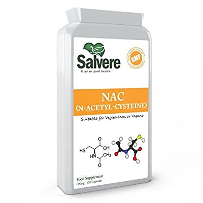 N Acetyl Cysteine 600 mg Supports Healthy Lungs & Liver Cleanse, Provides Powerful Antioxidant Glutathione & Improve Balance of Brain Neurotransmitters, Helps Break Down Mucus for Respiratory Care & Cardiac Protection