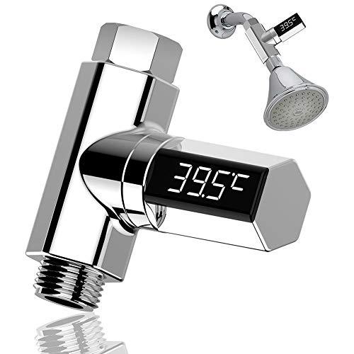 Self Accessori Bagno.Acqua Termometro Pratico Tester Metro Visual Per Casa Digitale Monitor Doccia Temperatura Accessori Led Display Impermeabile Bagno Self Generating
