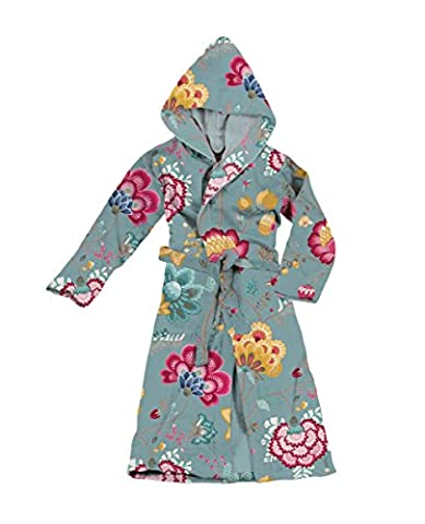Pip Damen Bademantel Floral Fantasy, XS - XXL, light petrol,