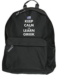 HippoWarehouse Keep calm and learn Greek backpack ruck sack Dimensions: 31 x 42 x 21 cm Capacity: 18 litres