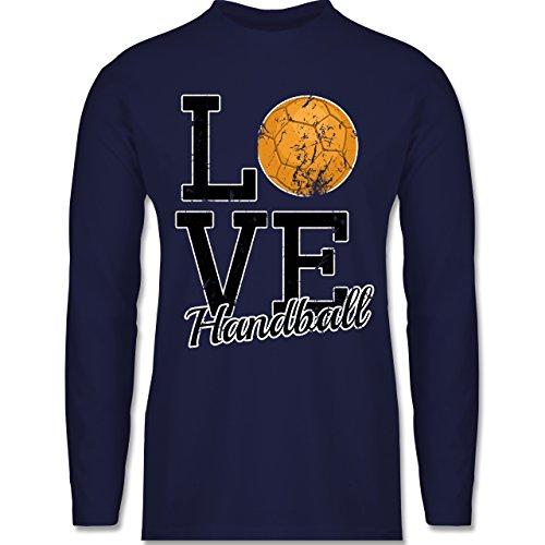 Handball - Love Handball - Longsleeve / langärmeliges T-Shirt für Herren Navy Blau