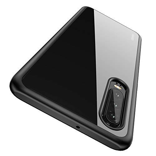 Joyguard Huawei P30 Hülle [Premium TPU + PC] [Hybrid Transparent] [Shock Proof] [Anti-Kratzer] [Ultra Slim] Huawei P30 Hülle Transparent - Schwarz