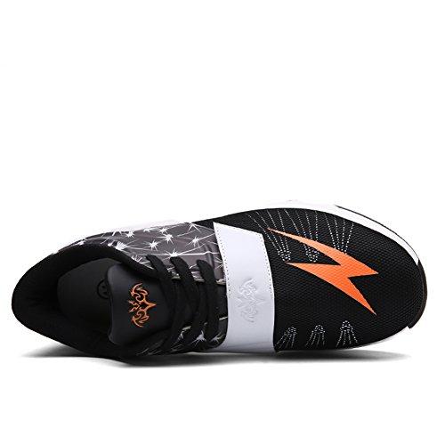 JEDVOO Unisex Uomo Scarpe da Ginnastica Corsa Sportive Basse Un fulmine Running Sneakers Fitness Interior Casual all'Aperto Nero