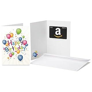 Amazon.co.uk Gift Card - In a Greeting Card - £50 (Birthday Blast)