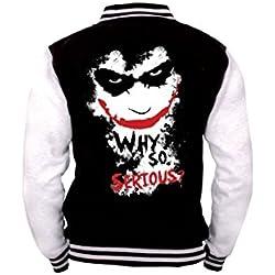 Joker - Why So Serious? Cazadora tipo universitario negro-blanco L