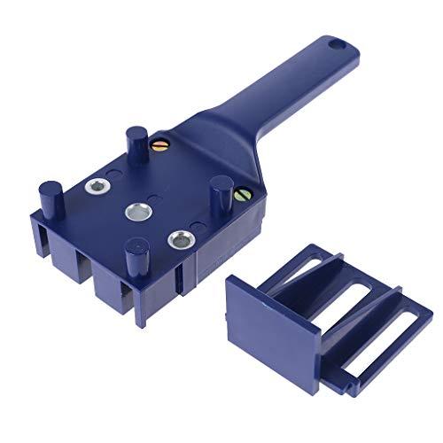 smallJUN Handheld Woodworking Doweling Jig Drill Guide Holzdübel Bohren Lochsäge Zubehör Vorlage Holzbohrdübel Zubehör