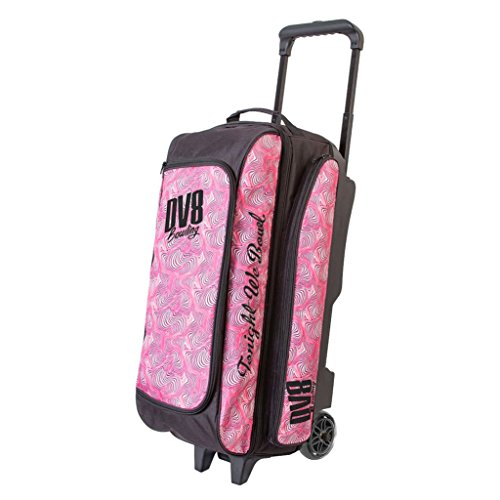 DV8 Freestyle Triple Roller Bowling Bag, Pink Swirl