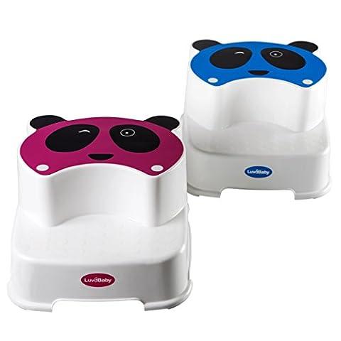 Baby Doppelstufen Schemel – Der Zwinkernde Panda – Kinder Tritthocker – Perfekt für Kinder-Badezimmer oder Kleinkind Toiletten Training