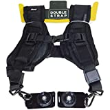 "Ozure Dual Mount Camera Shoulder Neck Sling Quick Strap & Fasten Adapter 1/4"" Screw for DSLR,SRL Camera Strap (Black)"