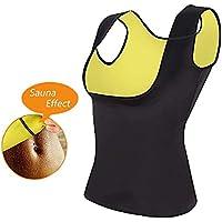 Pu-ai Mujeres Neopreno Sauna Entrenador de Cintura Corsé Chaleco Camisa de Sudor Caliente Sauna Chaleco Forma del Cuerpo para Bajar de Peso (XXL)