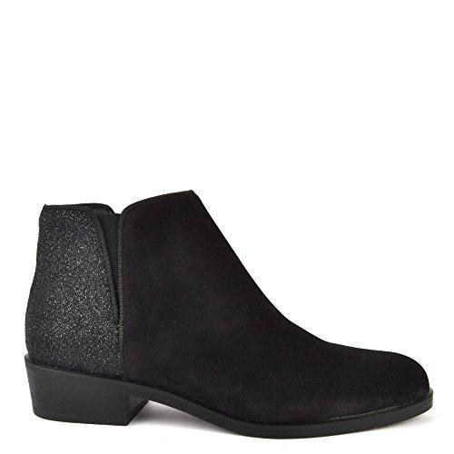 KANNA Chaussures Nola Bottines Noir en Daim Femme