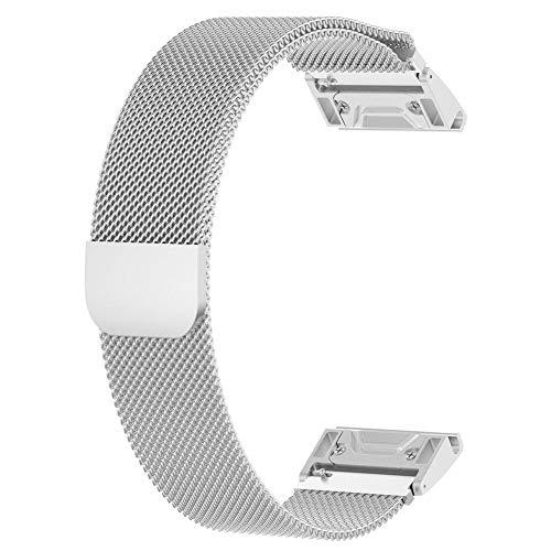 Preisvergleich Produktbild 20MM Armband Magnetisches Milanese Ersatz Uhrarmband Bügel für Garmin Fenix 5S