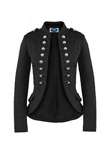 4tuality Massimo Military Blazer Slim fit schwarz, - Dompteur Kostüm