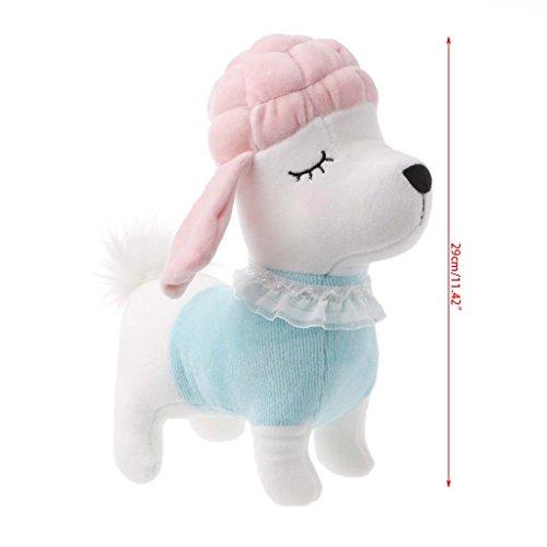 ZJL220 Hund Pudel Plüschtier Puppe Kissen Stofftier Cute Kid Geburtstag Weihnachten (Rosa Pudel)
