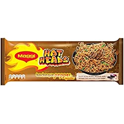 Maggi Hot Heads Noodls, Barbeque Pepper, 284g