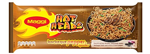 Maggi Hot Heads Noodls, Barbeque Pepper, 284g