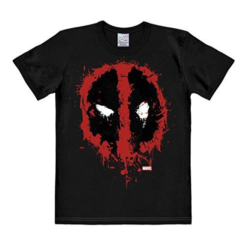 T-shirt Deadpool - maglia Marvel Comics - Antieroe - maglietta girocollo di LOGOSHIRT - nero - design originale concesso su licenza, taglia L