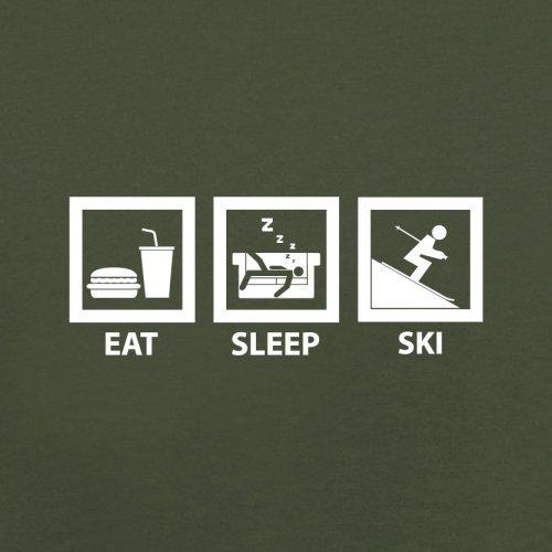 Eat Sleep Ski - Herren T-Shirt - 13 Farben Olivgrün