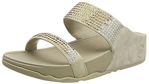 Fitflop Flare Slide, Women's Sandals, Pebble, 7 UK (41 EU)