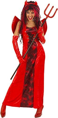 Flügel Teufel Kostüm Rote - Generique - Rotes Teufelchen-Kostüm Halloween für Damen