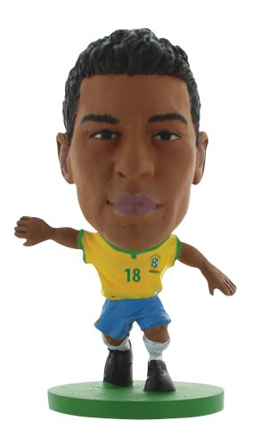 SoccerStarz Brazil International Figurine Blister Pack Featuring Paulinho Home Kit