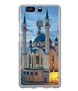 PrintVisa Designer Back Case Cover for Huawei P9 (Architecture Illuminated Historical Historic Design Building Beautiful Architect)
