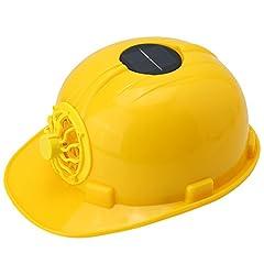 Idea Regalo - Costruzione Casco Giallo, Cappello Dura di Sicurezza a Energia Solare con Ventilatore