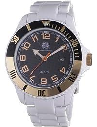Constantin Durmont Herren-Armbanduhr XL Nice Analog Plastik CD-NICG-QZ-RBWH-PCRG-BK
