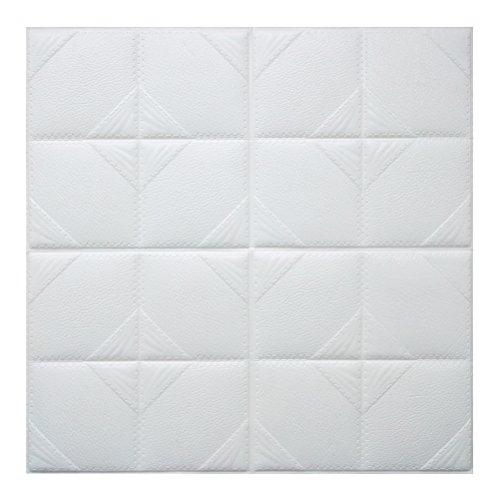 Winomo carta da parati mattoni 3d adesiva bianco pannelli decorativi in schiuma adesivi murali impermeabili rimovibile 60x60cm