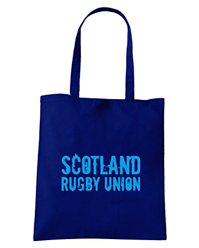 T-Shirtshock - Borsa Shopping TRUG0093 ruggershirts scotland rugby2 logo Blu Navy