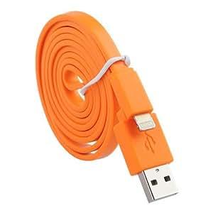 (Orange) Sony Xperia Z3+/Z3 Plus/Z4/Sony E6553/Z3+ dual/Plus/E6533 Data Flat Câble USB 1 Mètre ExclusiveTo Elite Acessoires