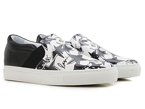 Lanvin Damen Slipper Sneaker aus weißem Leder - Modellnummer: FW SKPBV8 STAR E16 Weiß