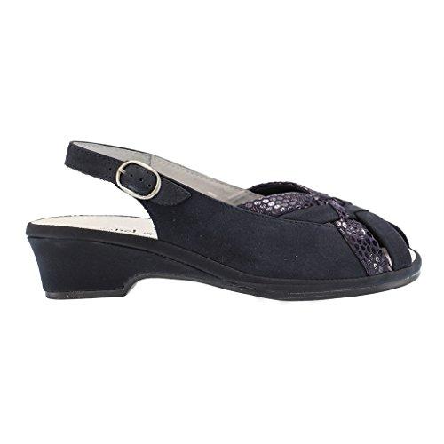 Comfortabel Damen -Tiefbett Artikel-Nr. 710594-5 blau, Nubuk/Leder,