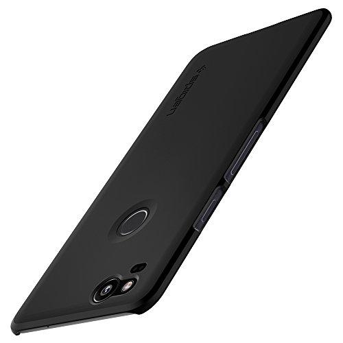 Spigen Google Pixel 2 Hülle, [Thin Fit] Passgenaues [Schwarz] Premium Slim HartPC Schale/Schlanke Design Hard Case Handyhülle/Schutzhülle für Google Pixel 2 Case Cover Black (F16CS22277)
