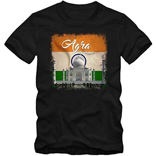 taj-mahal-maglietta-indien-uomo-agra-emblema-1648-monument-t-shirt-farbeschwarz-deep-black-l190tagli