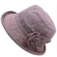 Sombrero sombrero femenino del verano, la Sra sombrero transpirable, cap ancianos, tapas plegables al aire libre, sombreros del cubo madre otoño