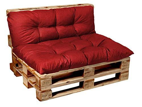 Garden factory Coussins pour Canape Euro Palette, Assise, Dossier, Set, extérieur intérieur Set (Assise 120x60+Dossier 120x50)