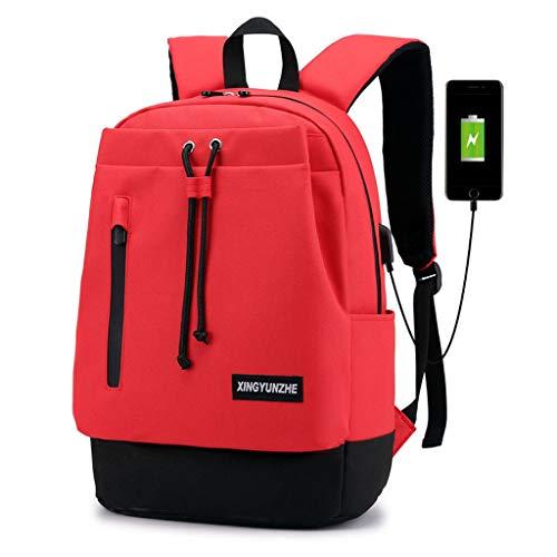 ity Solide wasserdichte Student Computer Rucksack Multi-User Travel Paar Tasche Umhängetaschen Mit USB-Anschluss ()