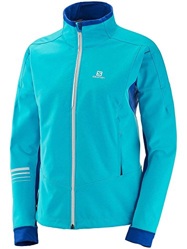 Salomon Damen Jacke Lightning Warm Shell M Blue Bird