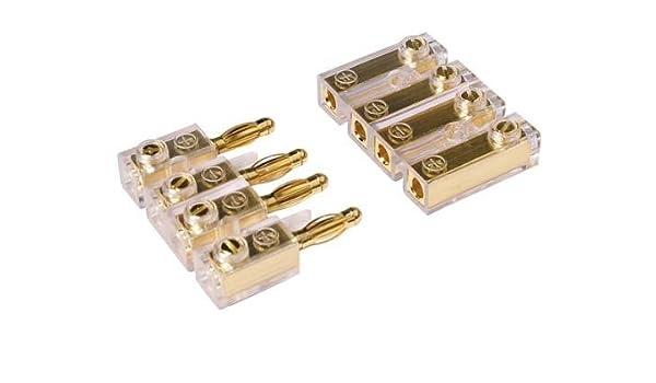 Watermark Car HiFi c/âble connecteur Soundboard 4 p/ôles-fiche Femelle-fiche plaqu/ée Or 0122P ##!