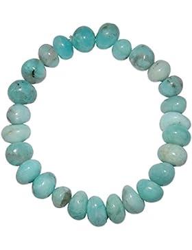 Andenopal blau Armband schönes Trommelstein Edelstein Armband ein echter Hingucker elastisch aufgezogen.(4012)