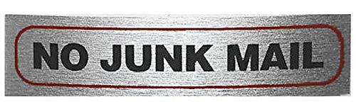 eCobbler Plaque de porte pour la maison ou entreprise 17 x 4 cm-inscription Inscription No Junk Mail