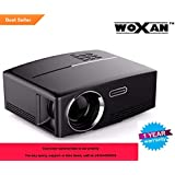 Woxan GP80 1800LM 1920*1080 HD Home Theater Portable LED Projector With Remote Controller, Support HDMI, VGA, AV, USB Interfaces,Black