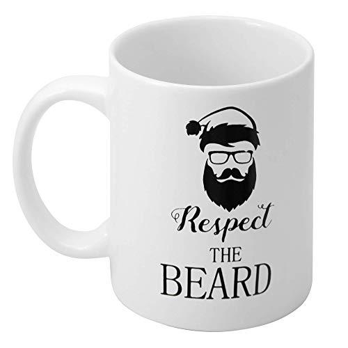 The twiddlers tazza regalo di natale - con scritto 'rispetta la barba' in inglese - regalo di natale perfetto - ideale per compleanni, festa del papà e altro
