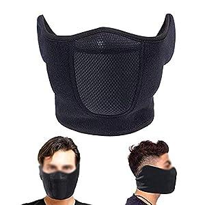 NANANA Halbe Gesichtsmaske Winddicht Männer Frauen Zum Skifahren Snowboarden Motorradfahren Winter Outdoor Sports Hoch Atmungsaktiv, 2 Stück