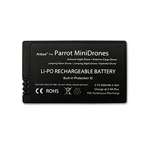 Anbee® 3.7v 630mAh LiPo Battery for Parrot MiniDrones Jumping Sumo