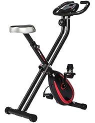 Ultrasport F-Bike Advanced, Fahrradtrainer, faltbarer Heimtrainer mit Trainingscomputer und Handpulssensoren
